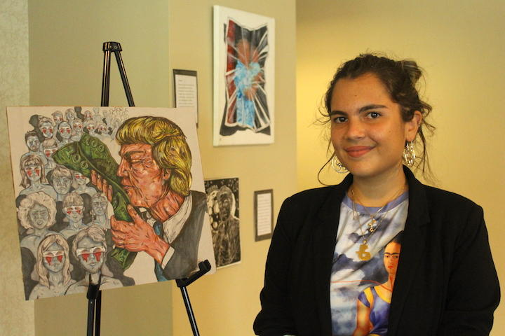 """""""I had always been really passionate about art because art has been sort of my coping system since I moved so much,"""" Maite Nazario told VOX. She wants to create """"activist art."""""""