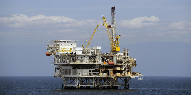 The offshore oil drilling platform 'Gail,' which operates off the coast of California. The Trump administration is considering allowing offshore oil drilling in the Atlantic Ocean, including off the coast of Georgia.