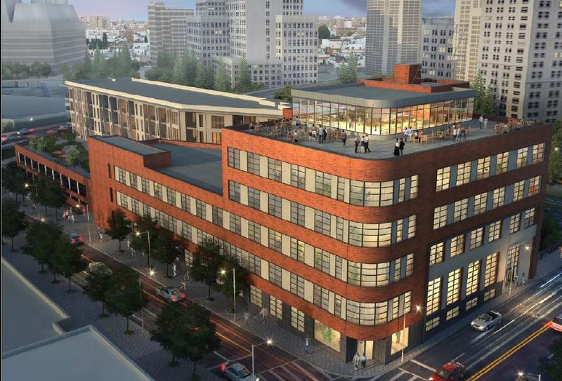 A proposed rendering of the restoration of 143 Alabama Street, one the last Art Moderne buildings in the city of Atlanta.