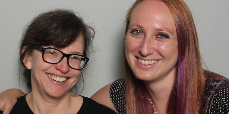 Rebecca Hill and Jennifer Young discussed meeting each other at Dragon Con in the StoryCorps Atlanta booth.