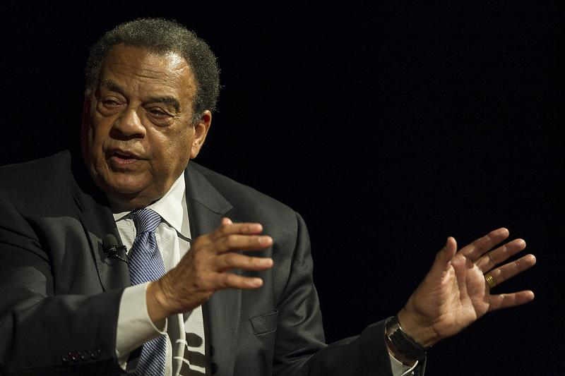 """""""We have not been concerned with the symbols. We've been concerned about the substance and that has enabled us to live together as brothers and sisters, rather than perish together as fools,"""" civil rights leader and former Atlanta Mayor Andrew Young said."""