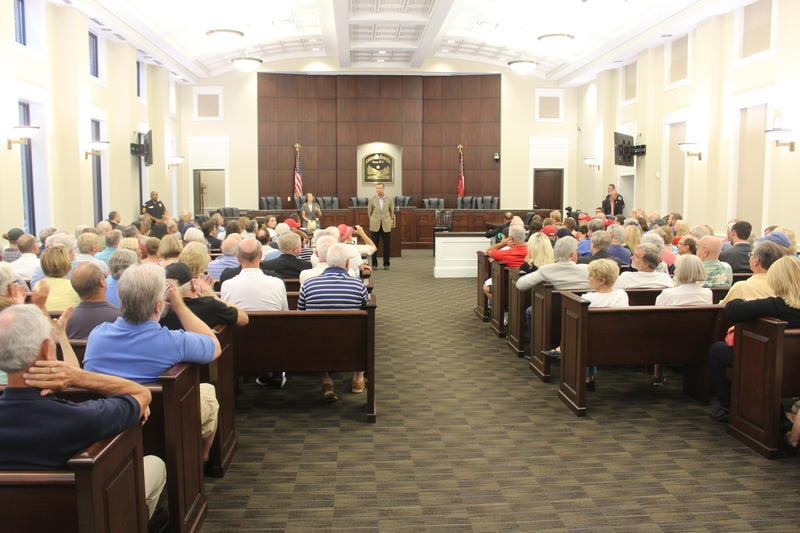 More than 250 people showed up for a town hall with U.S. Rep. Doug Collins at the Gainesville city court.