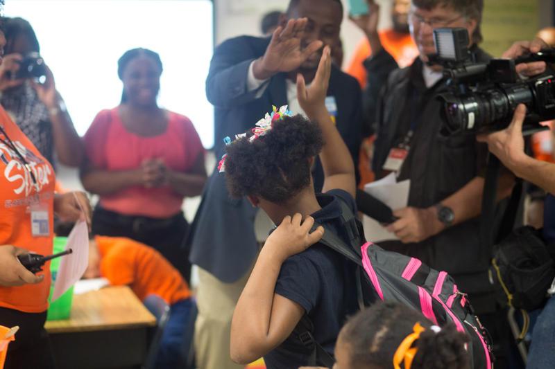 The Walmart leadership team congratulated LyNila on being an 'everyday hero.'