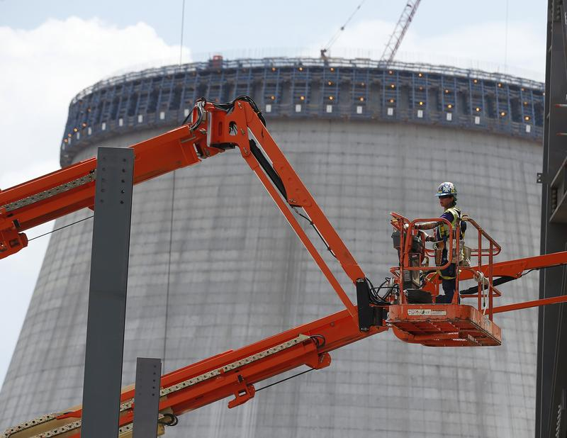 Reactor construction is shown in 2014 at Plant Vogtle in Waynesboro, Georgia. Georgia Power recommended to state regulators Thursday to keep construction going.