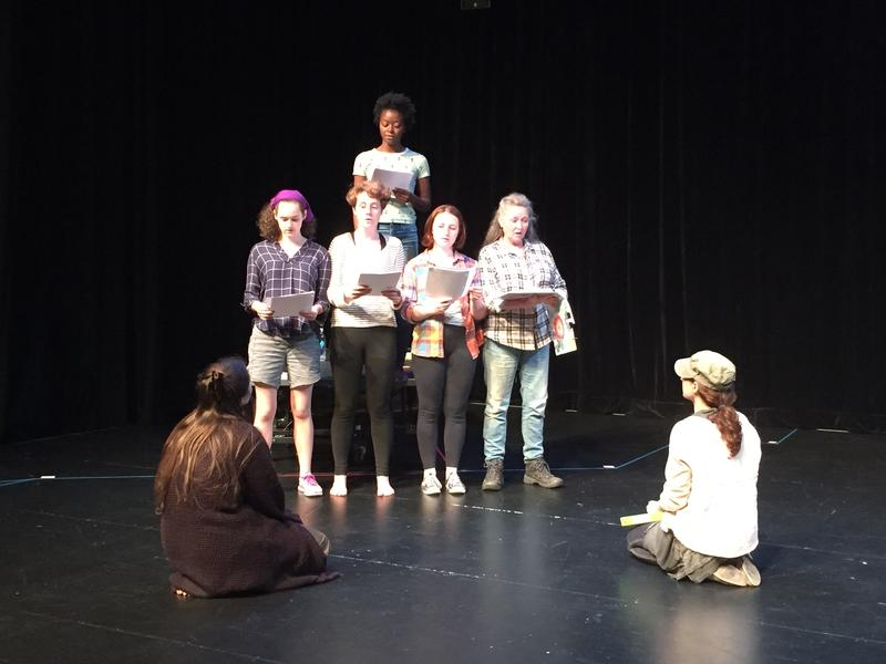 """The cast of """"Midnight Pillow,"""" being produced at Emory Theatre this month, is seen here."""