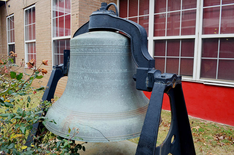 A historic fire bell in Atlanta.