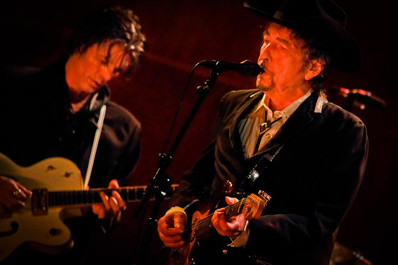 Bob Dylan performs at Atlanta's Fox Theatre on Friday April 24.