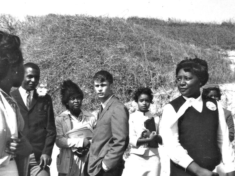 This photo from 1964 shows Greg Wittkamper and other young people at Jekyll Island receiving an award. Two of the first black students at Americus High are immediately to his left: Dobbs Wiggins and Jewel Wise.