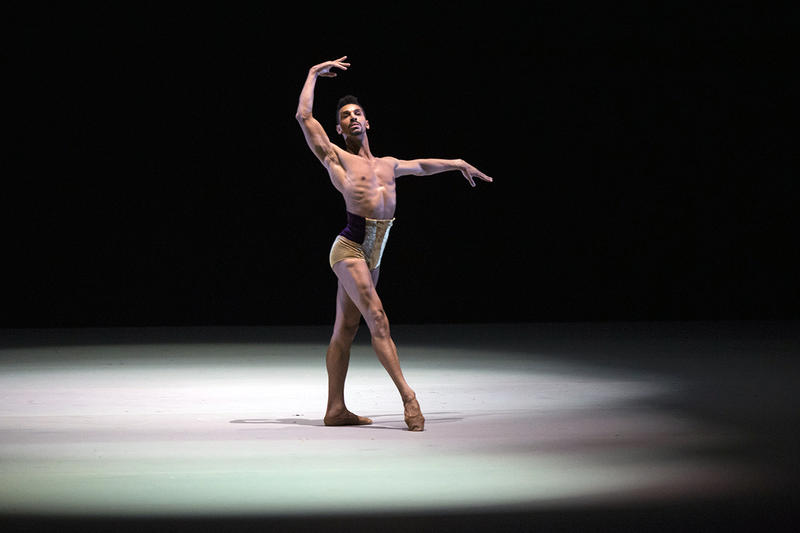 New York's Complexions Contemporary Ballet dancer Clifford Williams, Benois-2015 nominee, does a performance choreographed by Dwight Rhoden, during a Nominees Gala Concert in the Bolshoi Theater in Moscow, Russia, Tuesday, May 26, 2015.