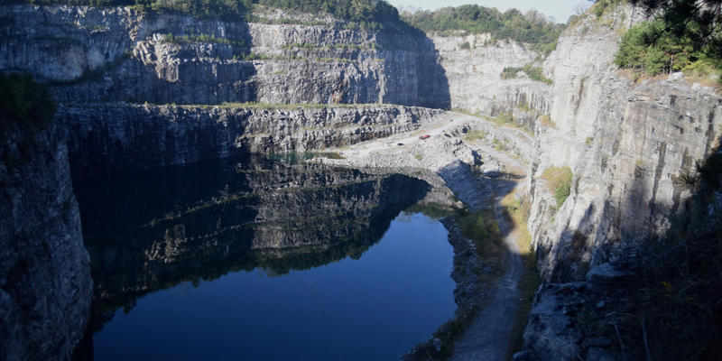 The quarry will eventually hold enough water to serve as a backup supply for 30 days.