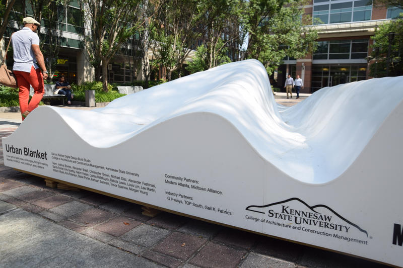 The Urban blanket, located on 5th street
