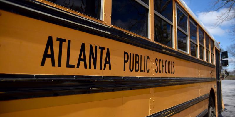 An Atlanta Public Schools school bus