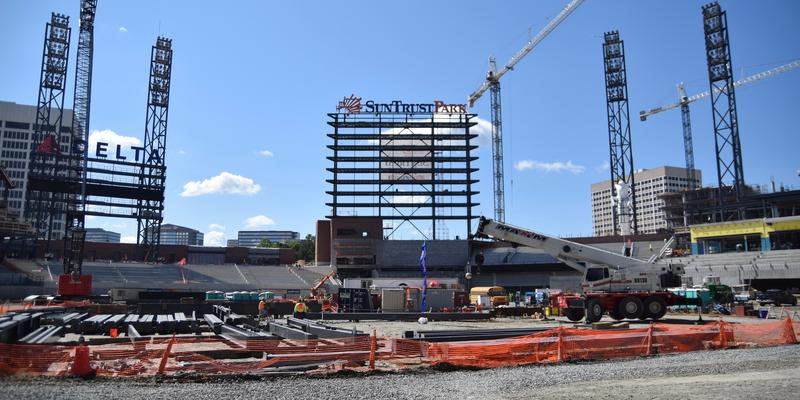 Suntrust Park is expected to open in time for the 2017 baseball season.