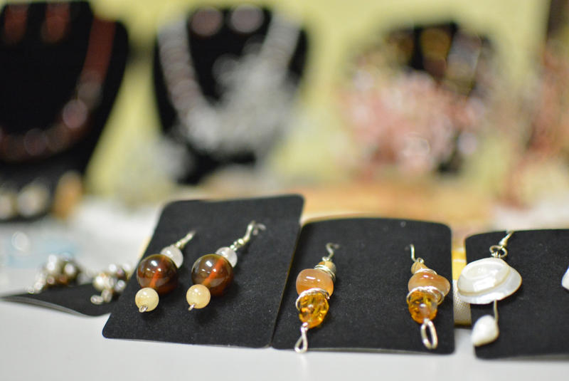 Earrings on display at the Latin American Association