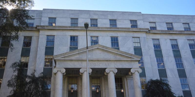 Exterior shots of the Georgia Supreme Court