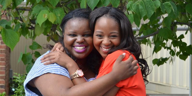 Debra Ngcobo and Bongeka Zuma attended Spelman College as part of a program by Oprah Winfrey for young women from South Africa.