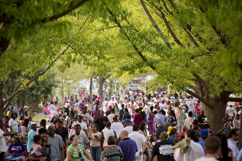 Atlanta Dogwood Festival visitors