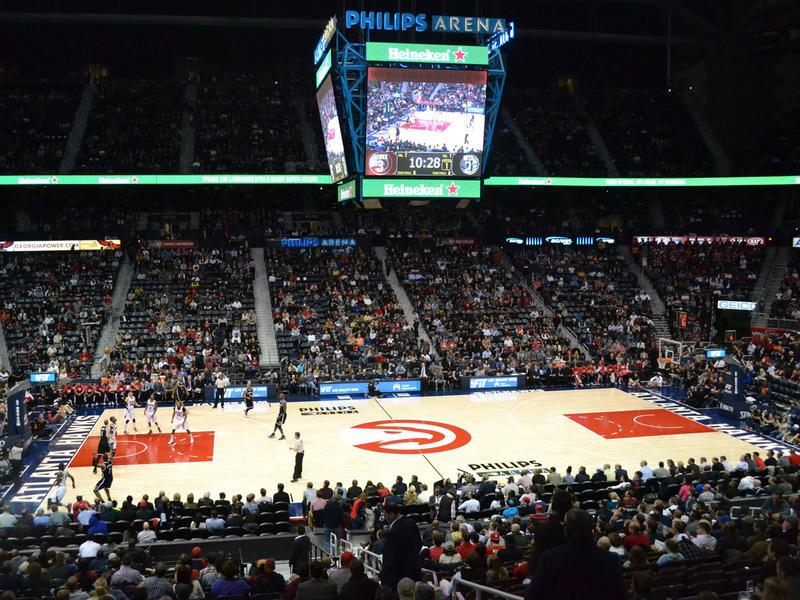 Atlanta Hawks at Philips Arena, vs. Brooklyn Nets, Jan. 28, 2015. Hawks won 113-102.