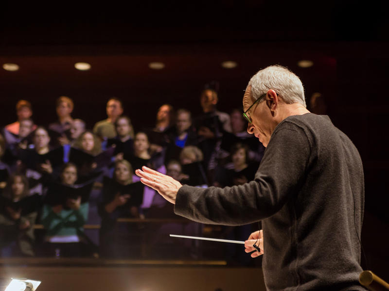 Film composer James Newton Howard conducting the Dallas Symphony Orchestra at the Meyerson Symphony Center on January 13th 2012