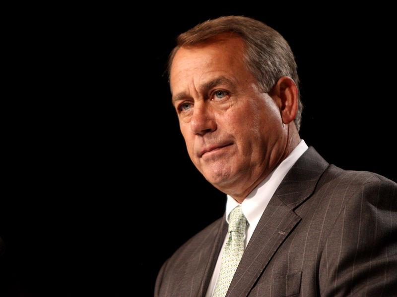 Speaker of the House John Boehner speaking at the Values Voter Summit in Washington, DC in 2011.