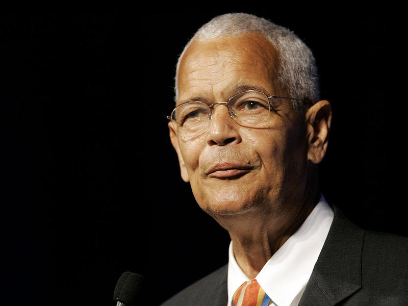 This July 8, 2007 file photo shows NAACP Chairman Julian Bond addressing the civil rights organization's annual convention in Detroit.