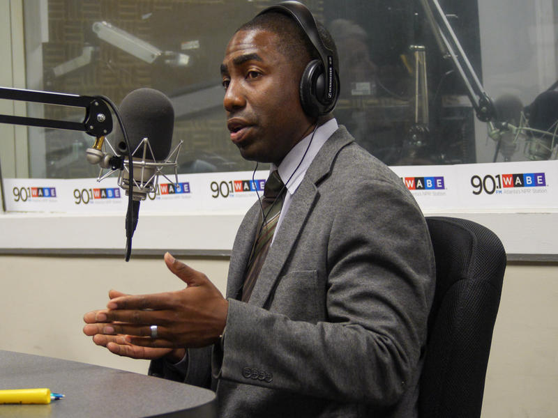 Lee May, interim Dekalb County CEO, speaks in the studio on Aug. 13, 2015.