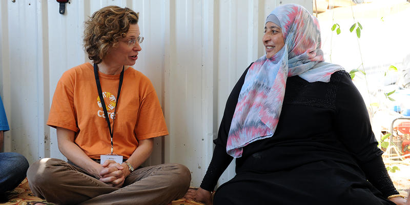 In a Jan. 27 statement, CARE CEO Michelle Nunn (left) said President Donald Trump's executive order on travel and immigration would jeopardize the international relief organization's efforts to save and protect refugees from nations like Syria.