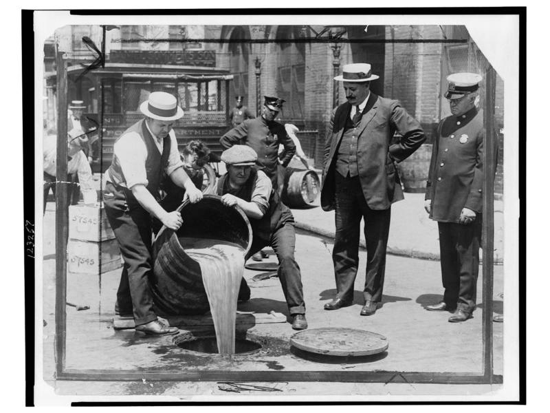 Removal of liquor during prohibition.