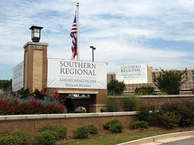 The front entrance of Southern Regional Healthcare Center in Riverdale, Georgia