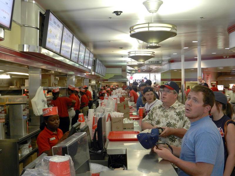Customers order at The Varsity in Atlanta, Georgia