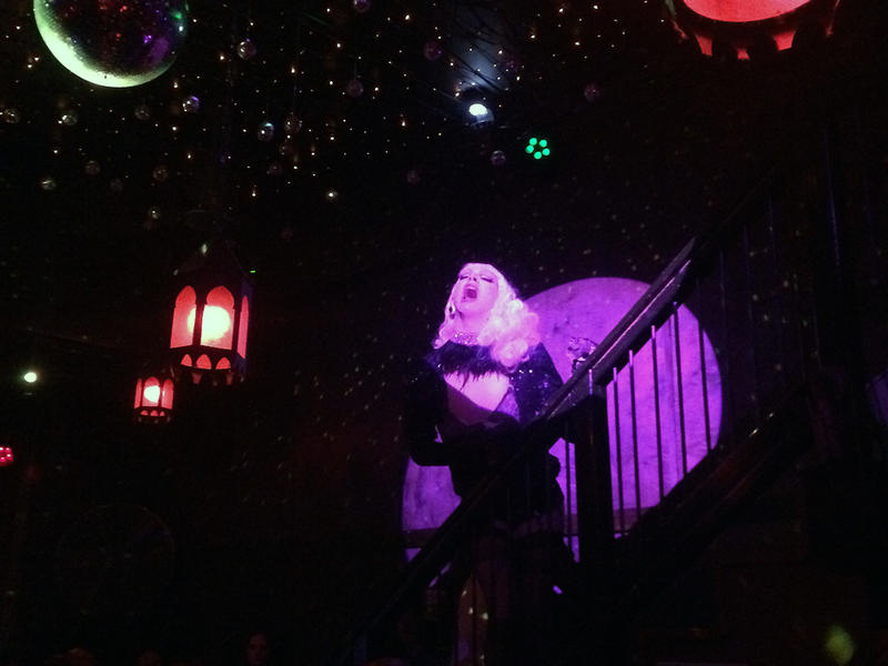 Violet Chachki performing at Mary's bar in East Atlanta.