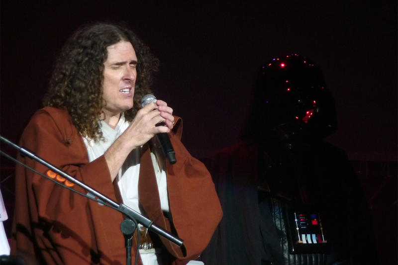 Weird Al Yankovic sings the Saga Begins at the HMV Forum London.