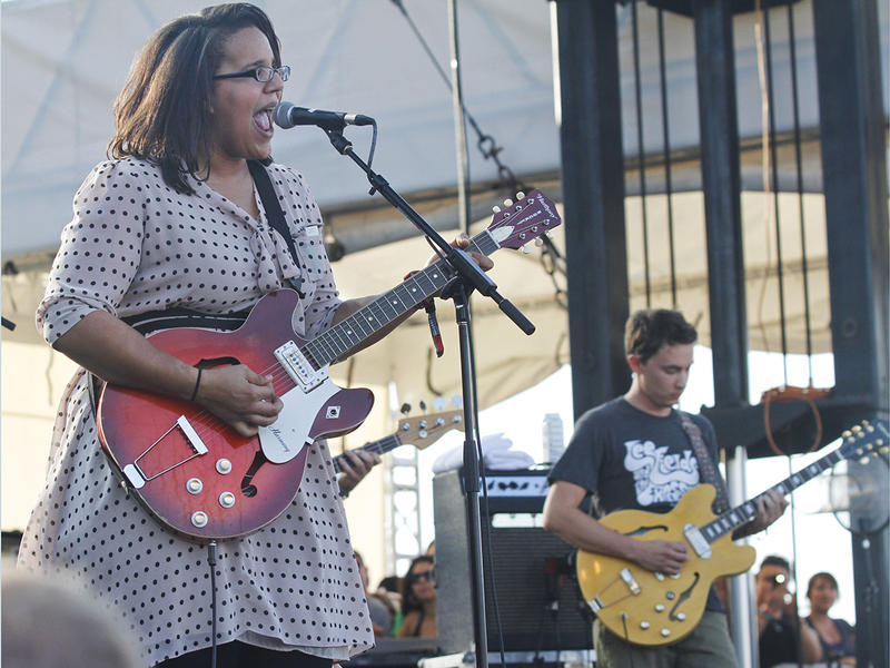 Brittany Howard and the Alabama Shakes perform at the Austin City Limits Music Festival, Friday, Oct. 12, 2012, in Austin, Texas.