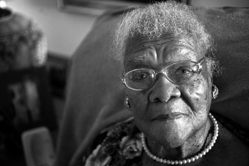Leola Dillard, 103, of Yazoo City, MS from photojournalist, Alysia Burton Steele's book, Delta Jewels.
