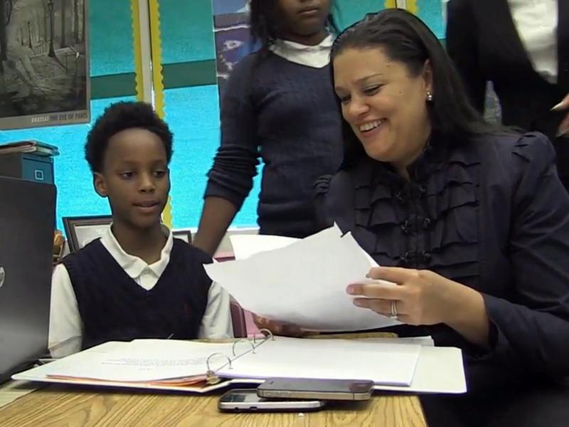 Atlanta Public Schools Superintendent Dr. Meria Carstarphen with a student