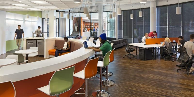 The Atlanta Tech Village in Buckhead includes hot desks and flexible lease options for technology startups.