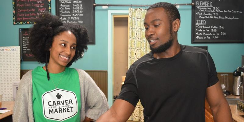 Rose Scott and Candace Wheeler spend an afternoon at the Carver Community Market today on ''Closer Look.''
