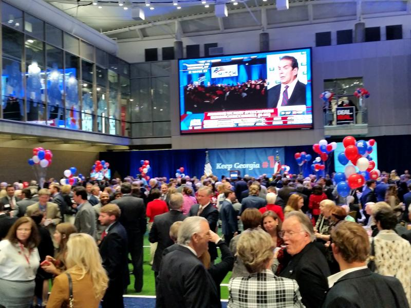 Governor Nathan Deal's election night party at the College Football Hall of Fame in Atlanta