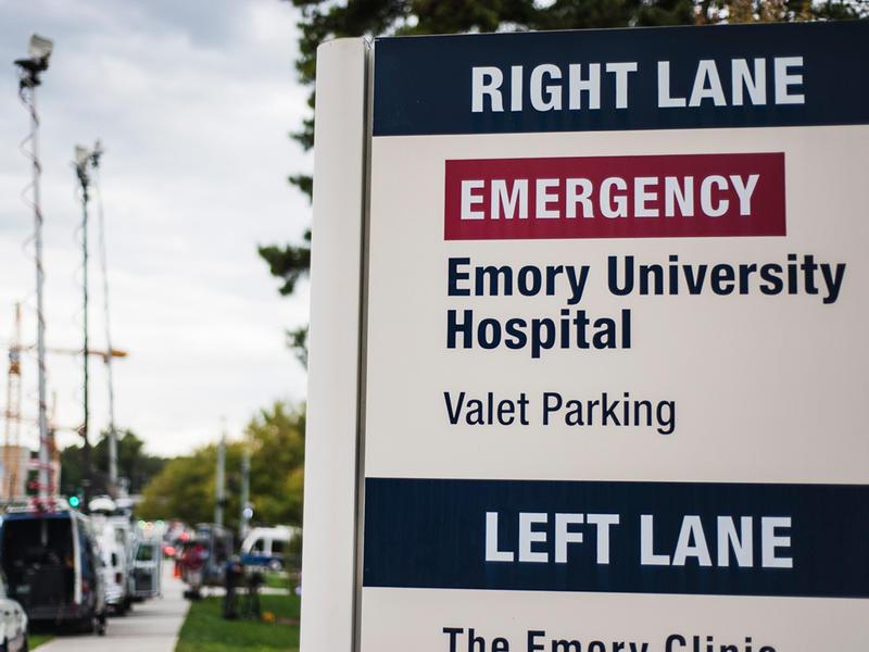 Emory University Hospital sign