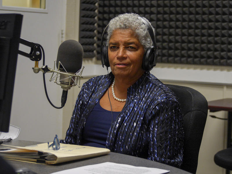 Shirley Franklin sits in the studio on Aug. 21, 2015.