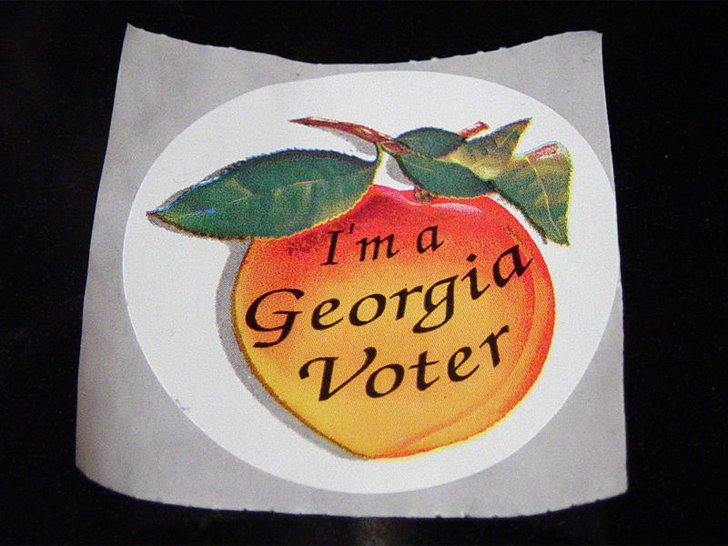Georgia's ''I'm a Georgia Voter'' sticker
