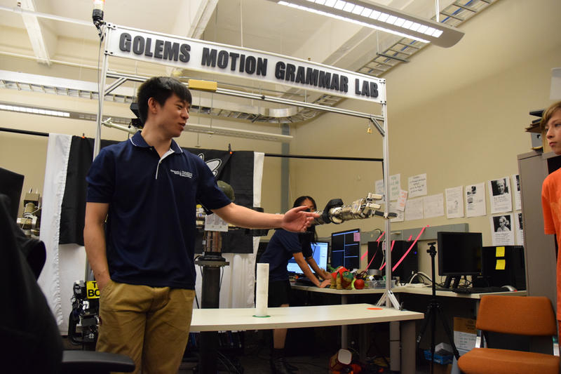 Eric Huang and Chricton. Students from around the metropolitan Atlanta area participated in the event as part of National Robotics Week. April 8, 2015.