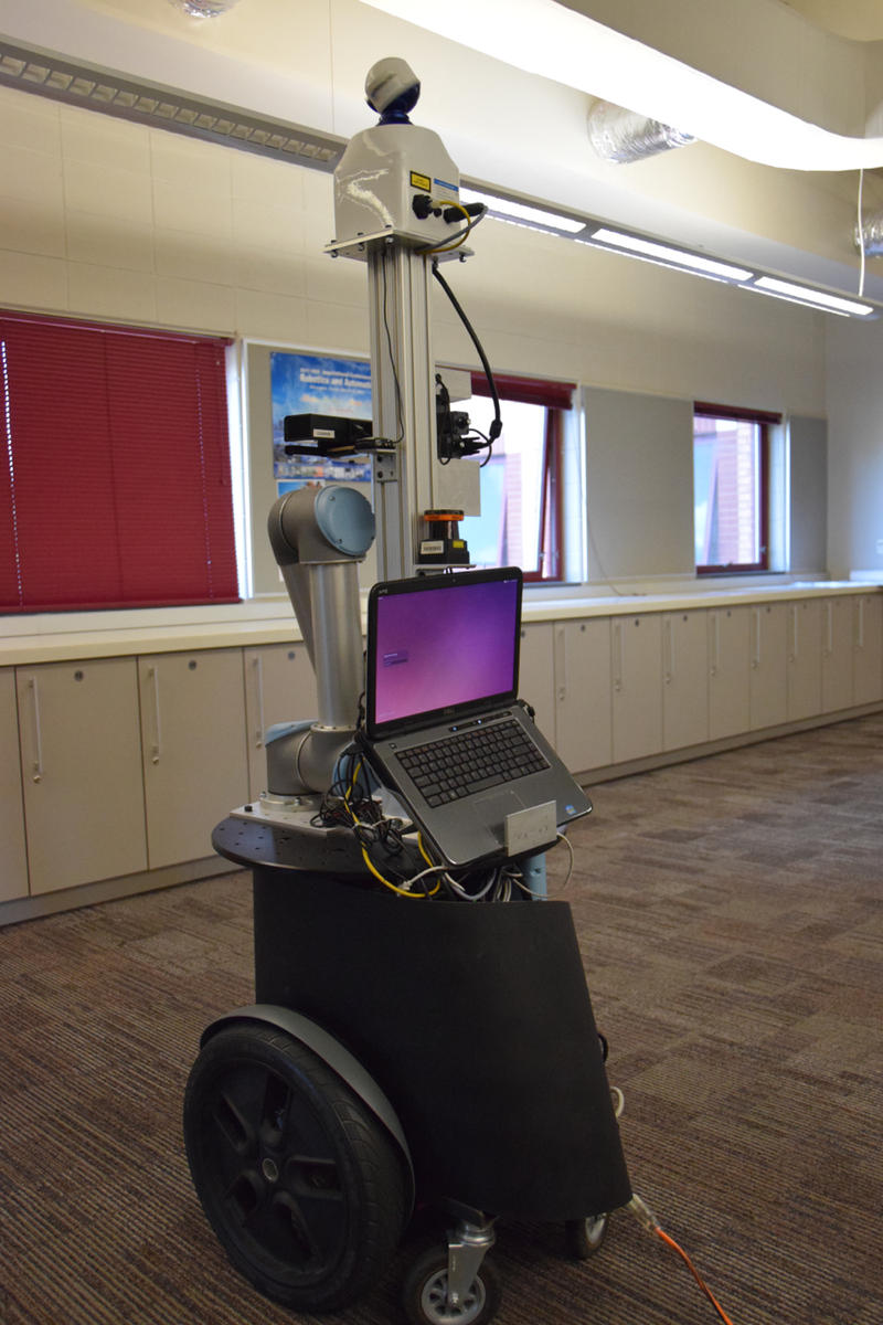 'Jeeves' robot at Georgia Tech. Students from around the metropolitan Atlanta area participated in the event as part of National Robotics Week. April 8, 2015.