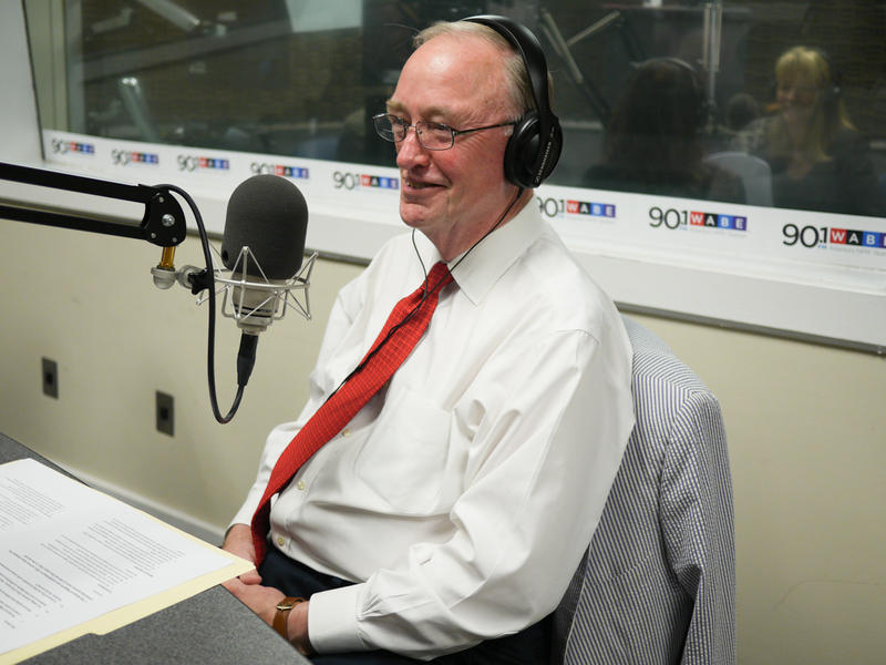 Hank Huckaby sits in for an interview at WABE on Aug. 4, 2015.
