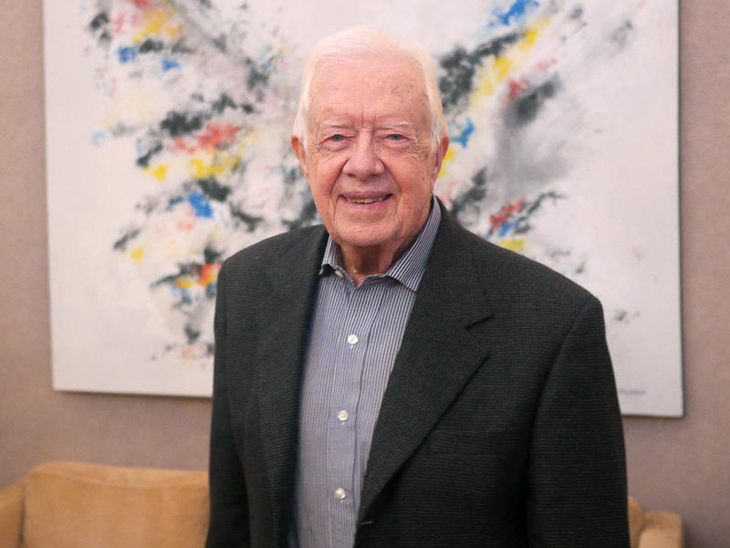 Former President Jimmy Carter at the Carter Center in Atlanta, July 15, 2015
