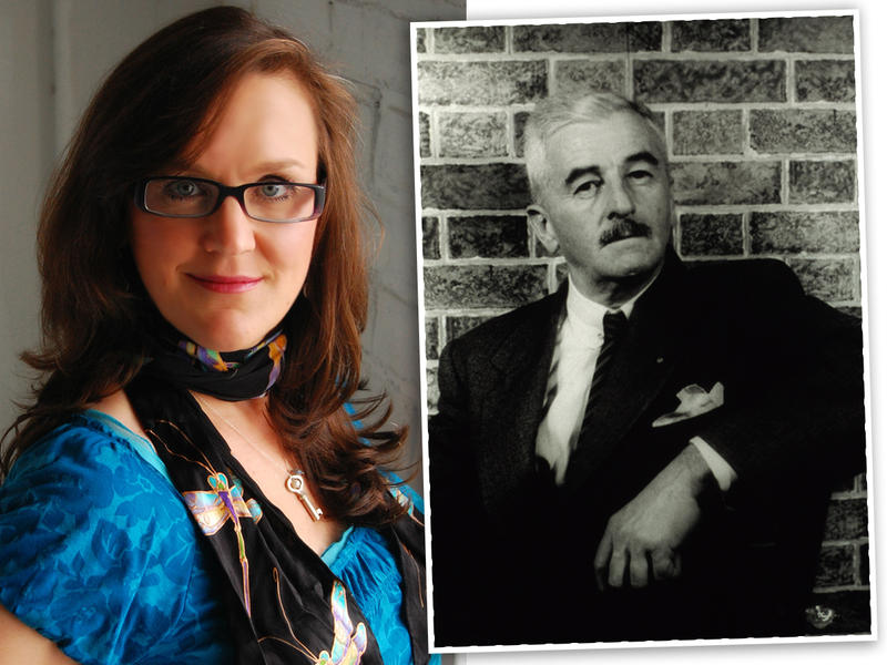 Author, Joshilyn Jackson, left, and author William Faulkner in 1954.