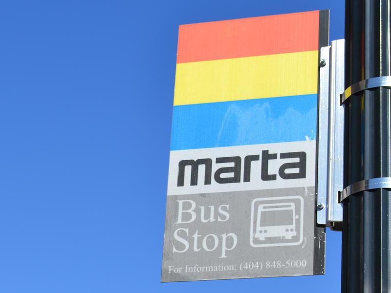 MARTA bus stop sign