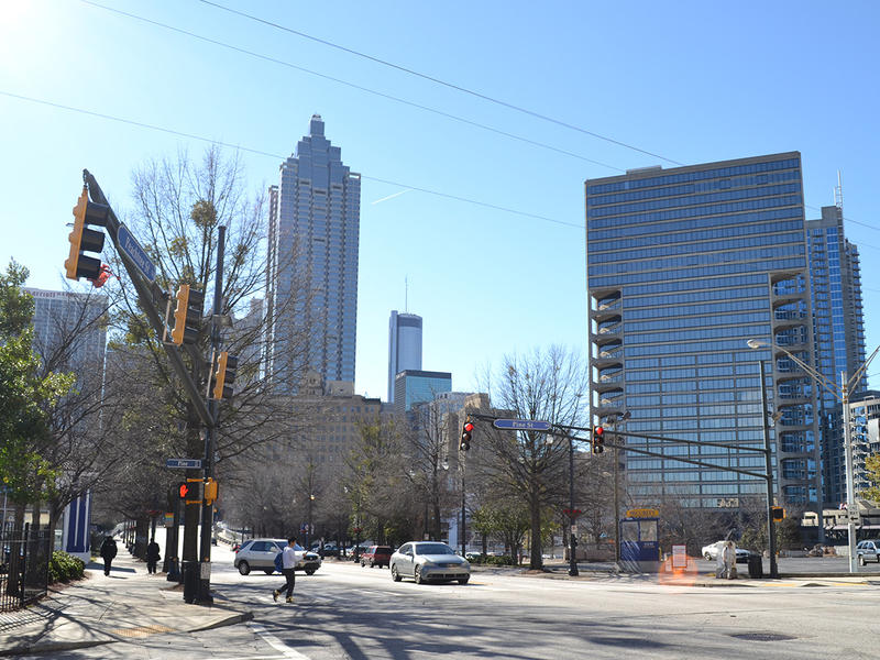 Peachtree street in Midtown Atlanta