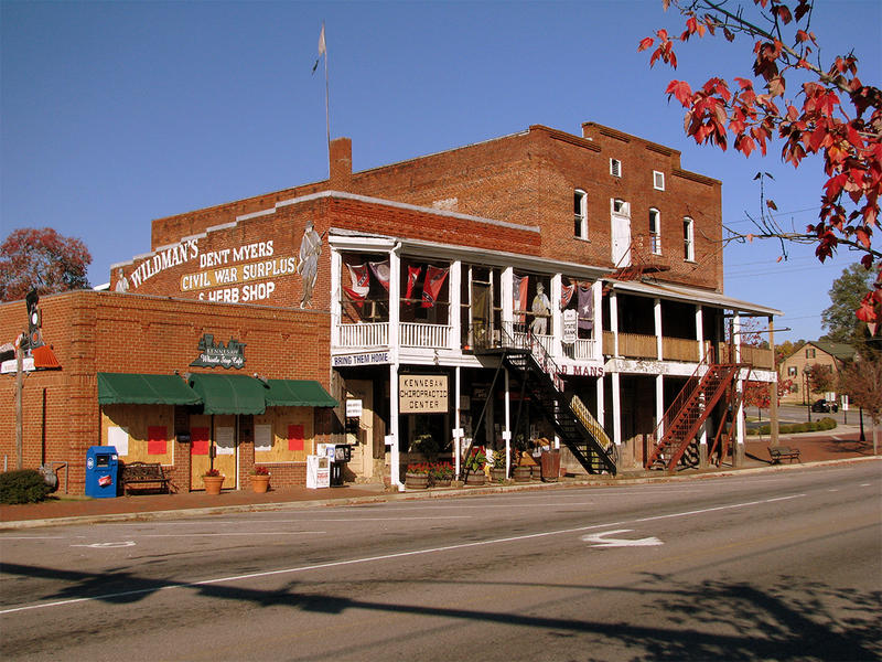 Dent Myers and his Wildman Civil War Surplus Store in Kennesaw, Ga along the historic Dixie Highway.