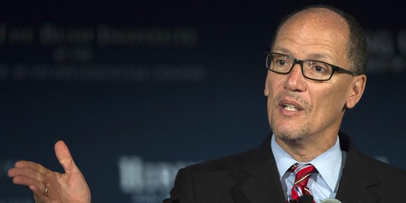 Labor Secretary Thomas Perez speaks at the U.S. Chamber of Commerce Foundation's Hiring Our Heroes program and the George W. Bush Institute's Military Service Initiative national summit, Wednesday, June 24, 2015.